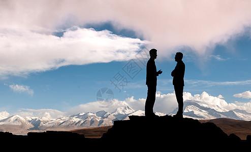 云端商务图片