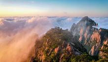 日出云海黄山风光美景图片
