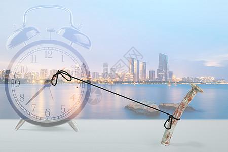 时间城市商务背景图片