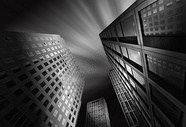 创意黑白建筑摄影图片