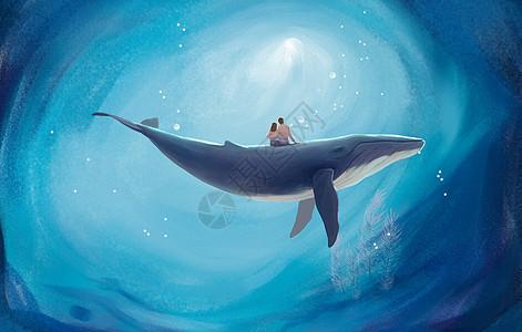 畅游星云的海豚图片