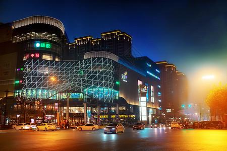 城市中的商业街图片