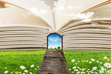 书中的神奇世界创意图片图片