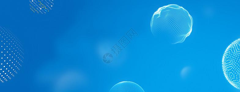 蓝色智慧科技背景图片