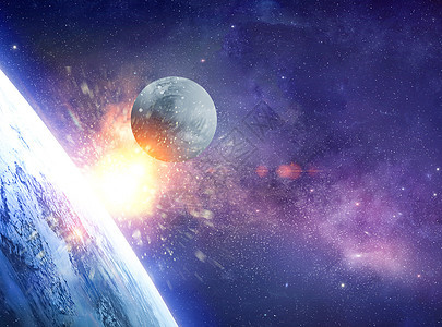 行星撞地球图片