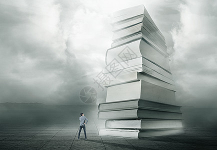创意书籍与商务人士图片