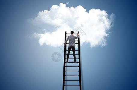 爬梯子图片