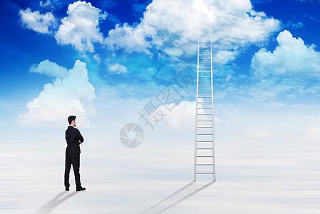 成功的云梯图片