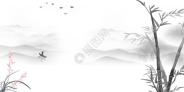 水墨画背景图片