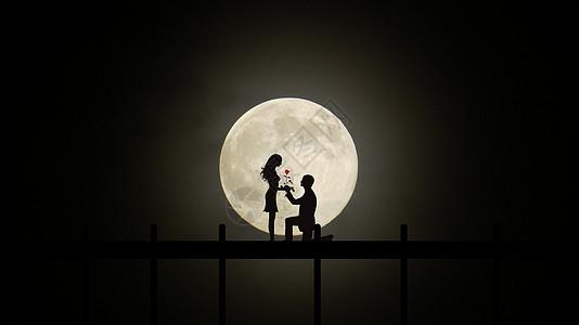 月光下求爱图片