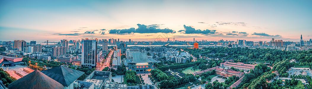 武汉城市风光全景长江主轴图片