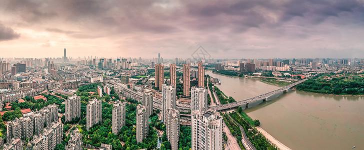 武汉城市风光全景汉江图片