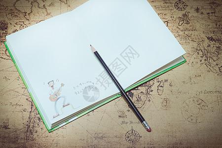 铅笔记事本图片