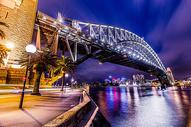夜幕下的悉尼大桥图片