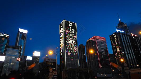 大都市中的高楼大厦夜色图片