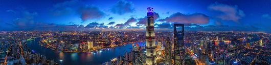 上海陆家嘴城市夜景图片