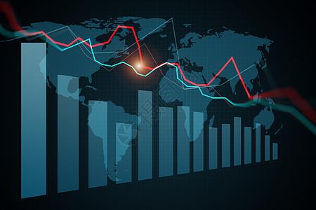 股票市场图表、 图形图片