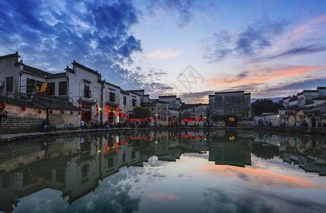 宏村全景图片