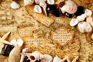 复古地图背景图片