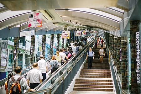 香港中环至半山自动扶梯图片