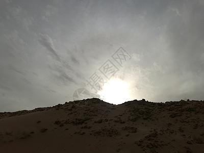 甘肃民勤落日的沙漠图片