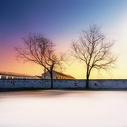 雪后小镇图片