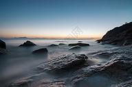 唯美海边夕阳照片图片