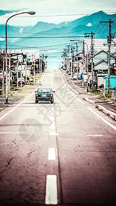 日本北海道富良野迷人街道图片