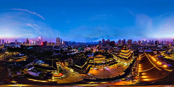 上海城隍庙全景夜景图片