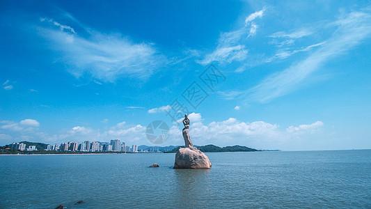 珠海十景之一珠海渔女高清图片