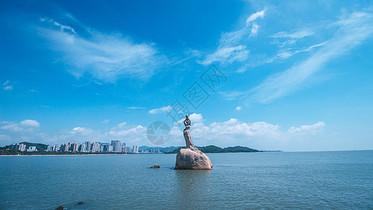 珠海十景之一珠海渔女图片