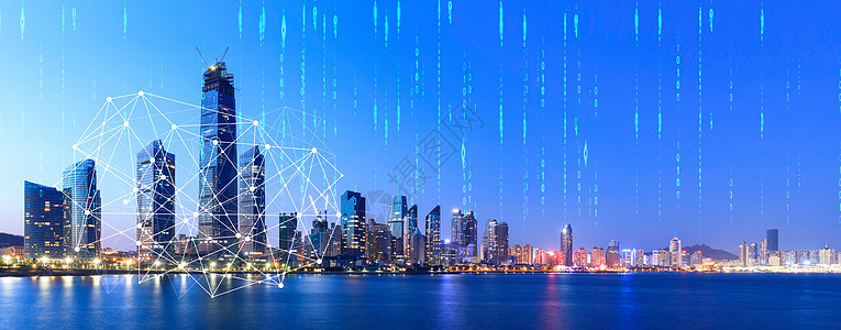城市下的数据线条图片
