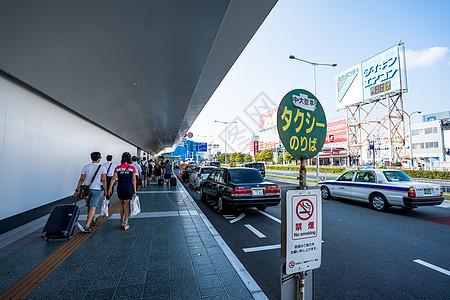 日本出租车停靠站台图片