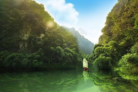 三峡人家风景区一角图片