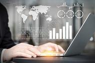 科技商务商业会议室使用电脑背景素材图片