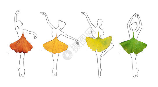 跳芭蕾的女孩创意图片