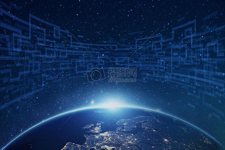 地球的夜空星光背景图片