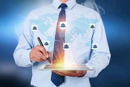 商务科技感金融经济素材海报背景图片