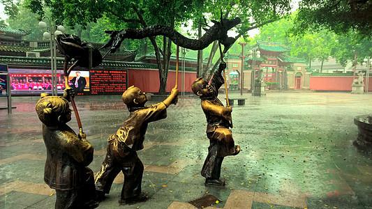 雨天佛山祖庙图片