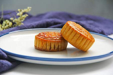 中秋节美食美味月饼细节图背景素材图片