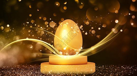 绚丽的金蛋图片