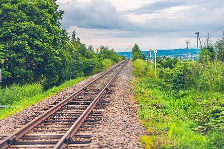 日本北海道铁轨道路图片