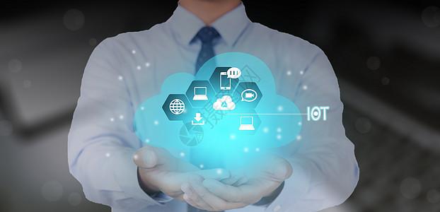 网络云物联网科技背景图片