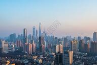 上海城市晚霞图片