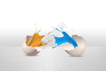 油漆鸡蛋图片