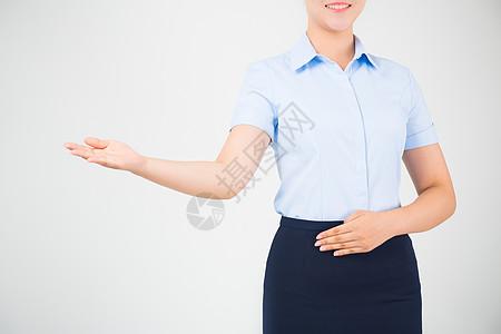 商务女性形象手势高清图片