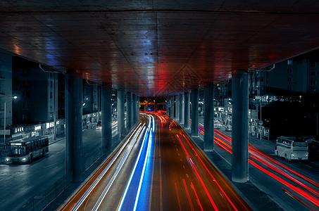 城市交通光轨图片