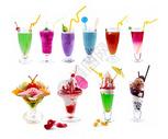 各种饮料和冷饮组合图片