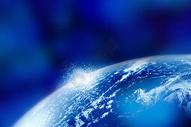 蓝色布影的地球图片