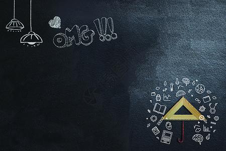 黑板背景素材图片